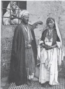 Sheik and his wife (Ramallah)