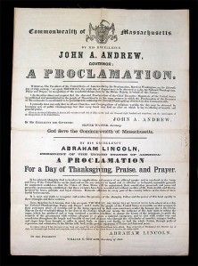 Proclamation of Thanksgiving, Oct 3, 1863