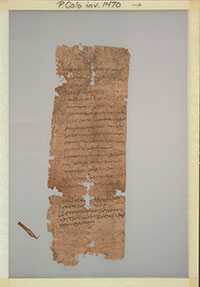 Dating to 70 C.E., this papyrus fragment records a father, Ophelas, requesting that his son Pakhois be registered as an apprentice in the weaving industry. Photo: Papyrus Collection, University of Oslo Library.