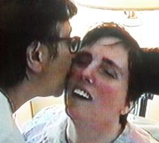 Terri Schiavo with her mother, in 2001