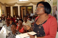 A 'Stop the Violence' workshop for church members in Haiti, where domestic violence has reached pandemic levels.